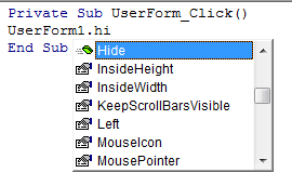 User Form - How to hide