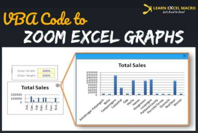 Zoom button for graph in Excel