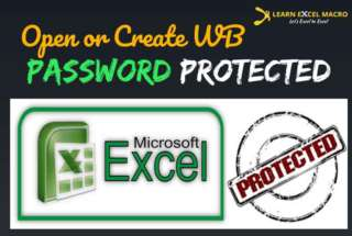 VBA to set password to Workbook