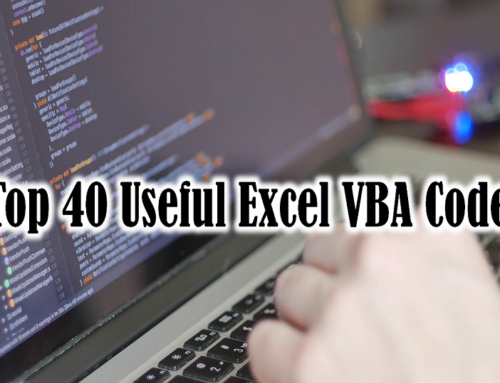 40 Useful Excel Macro [VBA] examples – Part 2 of 2 [ FREE DOWNLOAD ]