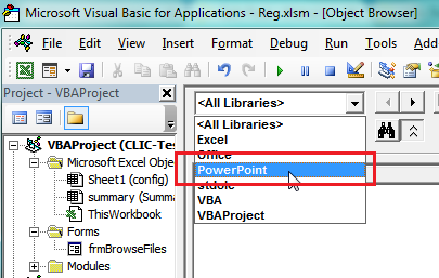Object Libraries in Excel VBA